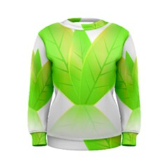 Leaves Green Nature Reflection Women s Sweatshirt