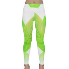 Leaves Green Nature Reflection Classic Yoga Leggings