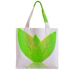 Leaves Green Nature Reflection Zipper Grocery Tote Bag