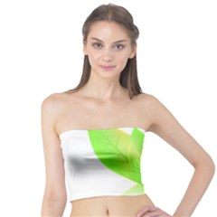 Leaves Green Nature Reflection Tube Top