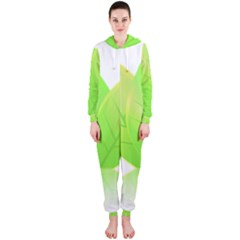 Leaves Green Nature Reflection Hooded Jumpsuit (ladies)