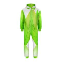 Leaves Green Nature Reflection Hooded Jumpsuit (kids)