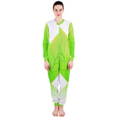 Leaves Green Nature Reflection Onepiece Jumpsuit (ladies)