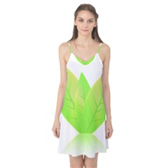 Leaves Green Nature Reflection Camis Nightgown