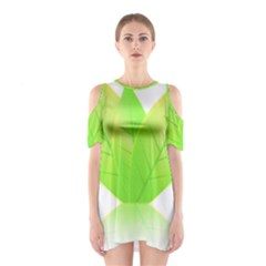 Leaves Green Nature Reflection Shoulder Cutout One Piece