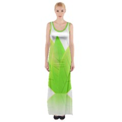 Leaves Green Nature Reflection Maxi Thigh Split Dress