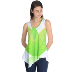 Leaves Green Nature Reflection Sleeveless Tunic