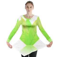 Leaves Green Nature Reflection Long Sleeve Tunic