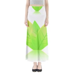 Leaves Green Nature Reflection Maxi Skirts