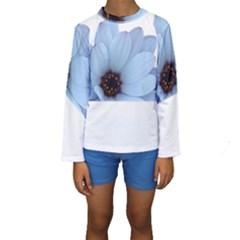 Daisy Flower Floral Plant Summer Kids  Long Sleeve Swimwear