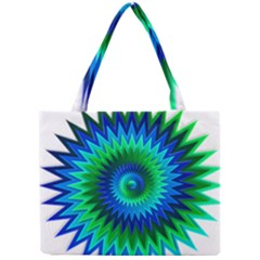 Star 3d Gradient Blue Green Mini Tote Bag