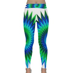 Star 3d Gradient Blue Green Classic Yoga Leggings