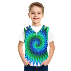 Star 3d Gradient Blue Green Kids  Sportswear