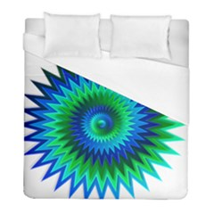 Star 3d Gradient Blue Green Duvet Cover (full/ Double Size)