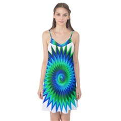 Star 3d Gradient Blue Green Camis Nightgown