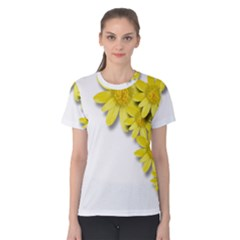 Flowers Spring Yellow Spring Onion Women s Cotton Tee
