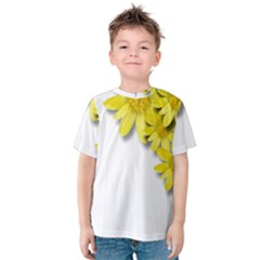 Flowers Spring Yellow Spring Onion Kids  Cotton Tee