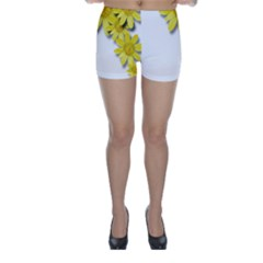 Flowers Spring Yellow Spring Onion Skinny Shorts