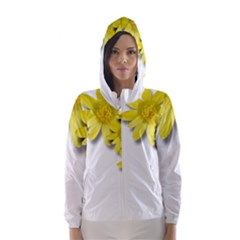 Flowers Spring Yellow Spring Onion Hooded Wind Breaker (women)