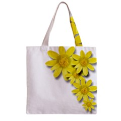 Flowers Spring Yellow Spring Onion Zipper Grocery Tote Bag