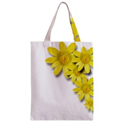 Flowers Spring Yellow Spring Onion Zipper Classic Tote Bag