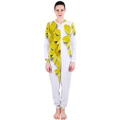 Flowers Spring Yellow Spring Onion Onepiece Jumpsuit (ladies)