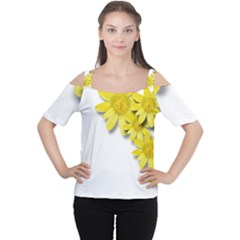 Flowers Spring Yellow Spring Onion Women s Cutout Shoulder Tee