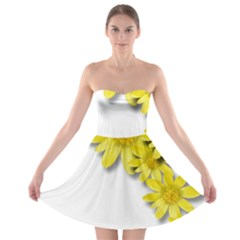 Flowers Spring Yellow Spring Onion Strapless Bra Top Dress