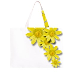 Flowers Spring Yellow Spring Onion Zipper Large Tote Bag