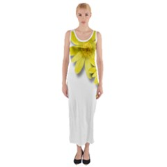 Flowers Spring Yellow Spring Onion Fitted Maxi Dress