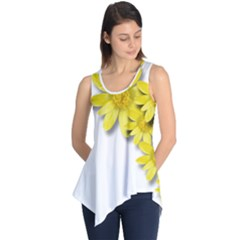 Flowers Spring Yellow Spring Onion Sleeveless Tunic