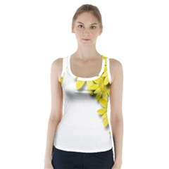 Flowers Spring Yellow Spring Onion Racer Back Sports Top