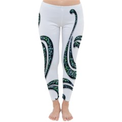 Scroll Retro Design Texture Classic Winter Leggings