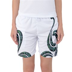 Scroll Retro Design Texture Women s Basketball Shorts