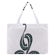 Scroll Retro Design Texture Medium Zipper Tote Bag
