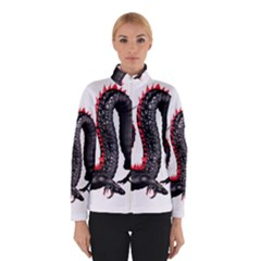Dragon Black Red China Asian 3d Winterwear