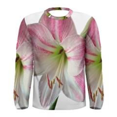 Flower Blossom Bloom Amaryllis Men s Long Sleeve Tee