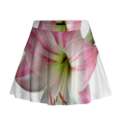 Flower Blossom Bloom Amaryllis Mini Flare Skirt
