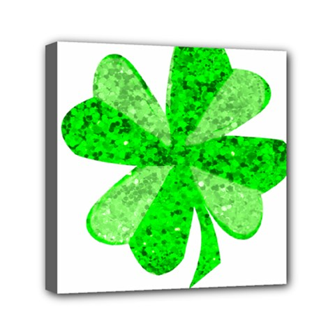 St Patricks Day Shamrock Green Mini Canvas 6  X 6
