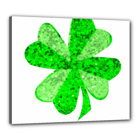 St Patricks Day Shamrock Green Canvas 24  x 20