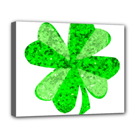 St Patricks Day Shamrock Green Deluxe Canvas 20  X 16