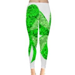St Patricks Day Shamrock Green Leggings
