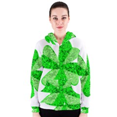 St Patricks Day Shamrock Green Women s Zipper Hoodie