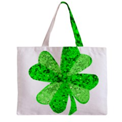 St Patricks Day Shamrock Green Zipper Mini Tote Bag