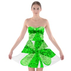 St Patricks Day Shamrock Green Strapless Bra Top Dress