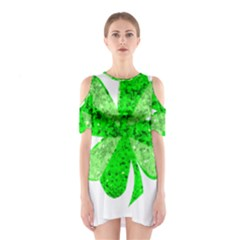 St Patricks Day Shamrock Green Shoulder Cutout One Piece