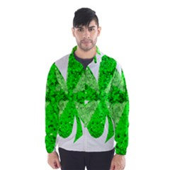 St Patricks Day Shamrock Green Wind Breaker (men)