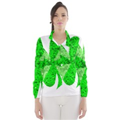 St Patricks Day Shamrock Green Wind Breaker (women)