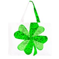 St Patricks Day Shamrock Green Large Tote Bag