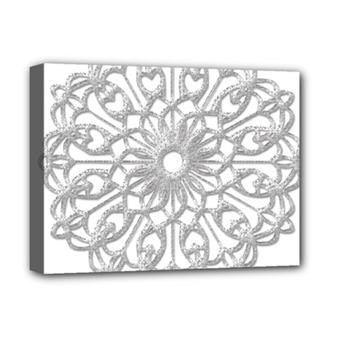 Scrapbook Side Lace Tag Element Deluxe Canvas 16  x 12